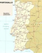 Cartina politica del Portogallo