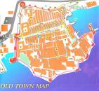 Mappa del centro di Dubrovnik