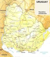 Cartina politica dell'Uruguay