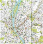 Mappa del centro di Budapest