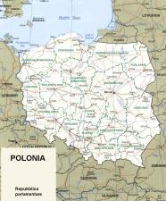 Cartina politica della Polonia