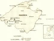 Cartina geografica di Maiorca