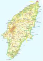 Cartina geografica di Rodi