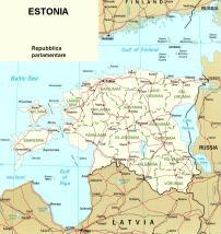 Cartina politica dell'Estonia